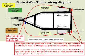 wiring diagram for 4 wire trailer plug the wiring diagram 4 wire trailer hitch wiring diagram 4 wiring diagrams for wiring diagram