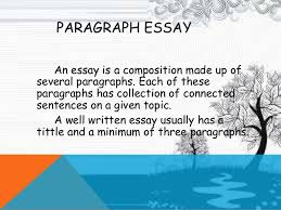 how to write a basic paragraph paragraph
