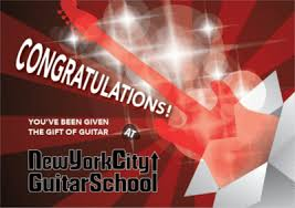 Guitar Lesson Gift Certificate Template New York City Guitar School Gift Certificates For Guitar Lessons And