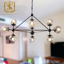 glass ball light style glass ball pendant lamp loft industrial iron with the most brilliant