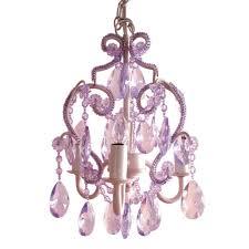 3 light lavender topaz mini chandelier