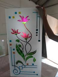 Flower Design Glass Door Pin By Pasupathi Ramdas On Stain Glass Window Glass Design