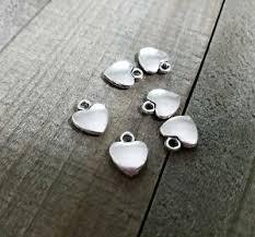 BULK <b>Charms Heart Charms</b> Antiqued <b>Silver</b> 50 pieces <b>Wholesale</b> ...