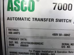 used asco 400a series 7000 automatic transfer switch ( 4785) Asco 7000 Series Manual asco 400a series 7000