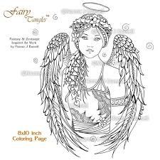 Everything you want to know about printable coloring pages for children is here! Angel Fairy Tangles Adult Printable Coloring Book Pages By Etsy