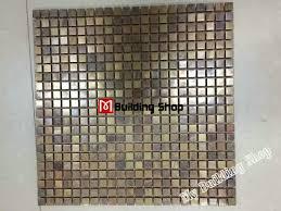 metal mosaic kitchen wall tile backsplash smmt069 brass copper mosaic stainless steel bathroom tiles