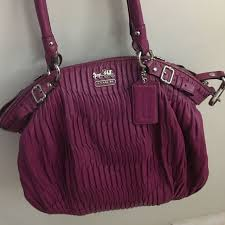 Rare Coach Madison Fuschia Pink Leather Matching bag and wallet, Women s  Fashion, Bags   Wallets, Handbags on Carousell