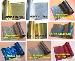 Ebay Holographic Laser 8m Craft Hot Toner 10cm Printer Laminator Cards Heat X Foil