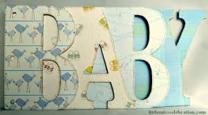 Album Word Finished Baby Boy Word Album Letters Part Of The Scrapbooking In A