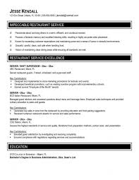 Resume Format For Hotel And Restaurant Management   Resume Format Resume Examples  Recognition Food Service Resume Template Career Objectives  Professional Skills References Certifications Interests Achievements