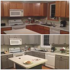 astonishing chalk paint for kitchen cabinets within before and after