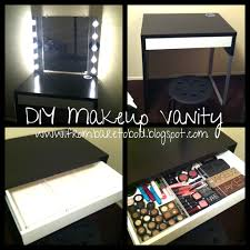 Small Bedroom Vanity Table From Bare To Bold Diy Makeup Vanity On A Budget Diy Pinterest