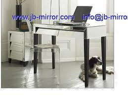 modern glass venetian mirrored art deco computer desk table furniture art deco desk computer