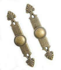 Lbfeel Antique Bronze Dresser Drawer Pulls Handles Back Plate