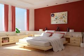 Positive Colors For Bedrooms Shabby Orange Accents Wall Paint Color For Apartment Bedroom With