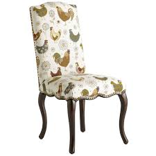 2 upholstered en rooster chairs claudine dining chair rooster pier 1 imports