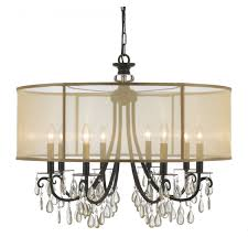 full size of living trendy chandelier with shade and crystals 1 outstanding 19 drum new chandeliers