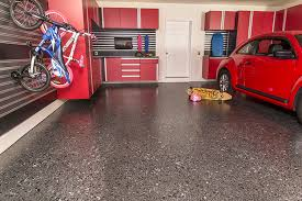 Epoxy flooring garage Wood Carbon Brindle Flake Epoxy Flooring Indy Organization Solutions Epoxy Garage Flooring Garage Experts