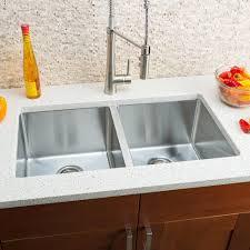 Hahn Chef Series 32 L X 18 W Double Bowl Undermount Kitchen Sink