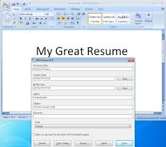 Job Hunting Be Sure To Send Your Resume As A Pdf Compunoodle Com