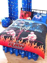 wrestling bed sets raw vs double duvet cover and pillowcase bedding wwe wrestling bed sets