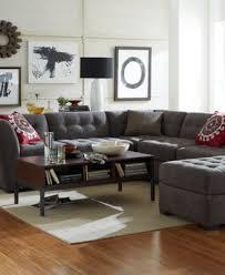 appealing macys living room furniture and roxanne fabric 6 piece modular sectional sofa 2 corner units 3 tif