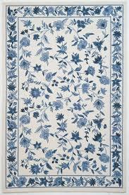 kas oriental rugs colonial 1727 ivory blue fl area rug