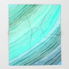"""Society6Sea Glass Bed Throw Blanket by Audrey Erickson - 68"""" x 80"""" Blanket  