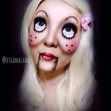 sweet version of the ventriloquist doll makeup makeup