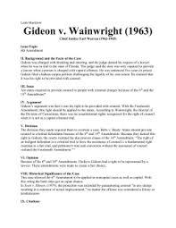 gideon v wainwright gideon v