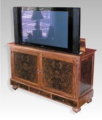 tv lift cabinet. burled walnut plasma lift tv cabinet tv
