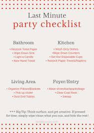 last minute party checklist fantabulosity last minute party checklist