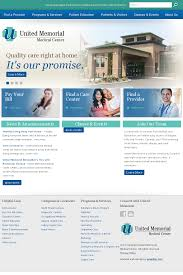Memorial Website Design United Memorial Medical Center Website Design Web Design