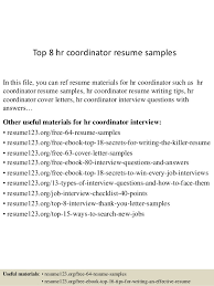 Top 8 Hr Coordinator Resume Samples