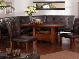 Dining Room, Rather Wooden Couch Layout Job Warm L Shaped Breakfast Table  Likewise White Laminated