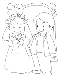 Small Picture Bride and groom coloring pages Wedding Coloring Pages