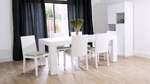 stylish 8 seater white oak dining table and dining chairs
