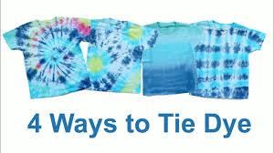 Tie Dye Shirt Swirl Design 4 Ways To Tie Dye Bullseye Swirl Stripe And Ombre