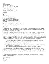 Avionics Mechanic Cover Letter Avionics Technician Cover Letter
