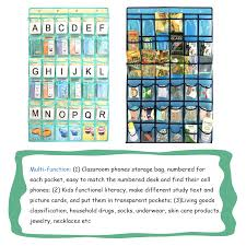 Pocket Chart For Classroom Hanging Storage Bag For Cell