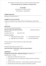 Undergraduate Resume Sample Undergraduate Undergraduate Engineering