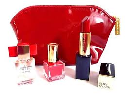 estee lauder modern muse le rouge gift set bnib 4ml edp nail varnish lipstick