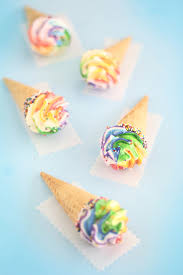 rainbow cupcakes in ice cream cones. Exellent Cupcakes Link Rainbow Meringue Truffle Cones By Heather Baird Published Friday  July 18 2014 Recipe For Cupcakes In Ice Cream