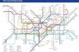 tube map showing tunnels to help london underground claustrophobia