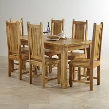 indian dining table 6 chairs. baku light mango indian dining set with 6 chairs from the solid range table