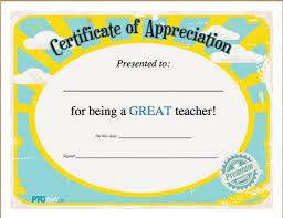 11 Printable Teacher Appreciation Certificates Nounportal