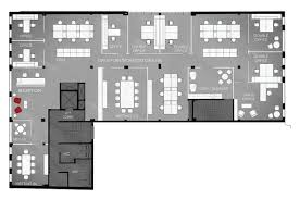 office space plan. Open Plan Space Plan: Legal/Financial Office