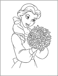 Disney Princess Belle Coloring Pages Picture Free Coloring Pages