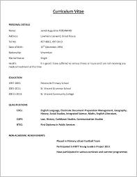 Simple Cv Format Sample Simple Cv Form Resume Format Simple Resume
