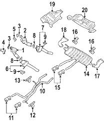 parts com® volkswagen catalyst partnumber 7l6254300x 2004 volkswagen touareg tdi v10 4 9 liter diesel exhaust components